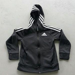 Adidas Black Full Zip Hoodie